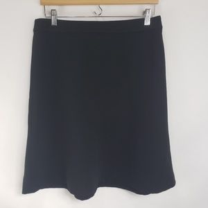 LOFT Skirts - Ann Taylor LOFT Black A Line Zipper Back Skirt
